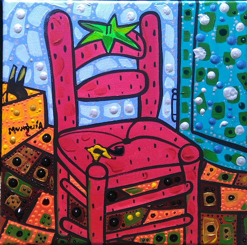 Cartoon: Fre Silla (medium) by Munguia tagged vincent,van,gogh,strawberry,chair,parody,famous,painting,fresa