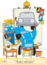 Cartoon: Auto retrato (small) by Munguia tagged rockwell,norman,munguia,selfportrait,auto,car,parodies,parody