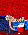 Cartoon: Bath (small) by Munguia tagged louis,david,marat,death,parody,painting,famous,munguia,costa,rica,cacique,burbuja,guaro,licor,alcohol