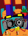 Cartoon: Camerades (small) by Munguia tagged camera,bar,cheers,brindis,camara,camarada,camarades,beer,pub