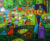 Cartoon: Cats on sunday afternoon (small) by Munguia tagged sunday,afternoon,on,the,island,of,la,grande,jatte,george,seurat,cartoon,parody,famous,paintings,cats,pussy,gatos,domingo,por,tarde,puntillismo,spoof,iconic
