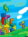 Cartoon: Civil Tetris (small) by Munguia tagged tetris,video,games,build,building,civil,engenier,joystick,helmet,munguia,calcamunguia,costa,rica