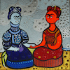 Cartoon: Fria Kahlo y Frida Calor (small) by Munguia tagged cold,hot,frida,kahlo,famous,paintings,parodies,red,blue
