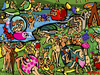 Cartoon: Garden of earthly delights (small) by Munguia tagged bosch el bosco garden of earthy delights nude naked famous paintings parodies