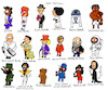Cartoon: Obituary  2016 (small) by Munguia tagged prince,david,bowie,fidel,castro,mohamed,ali,george,michael,ruben,aguirre,alf,jean,jacques,perrey,juan,gabriel,natalie,cole,carrie,fisher,umberto,eco,die
