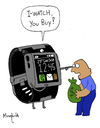 Cartoon: I-Watch you Buy (small) by Munguia tagged iwatch,apple,phone,watch,clock,iphone,mac,machintoch