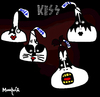 Cartoon: Kisses (small) by Munguia tagged kiss,cover,album,parody,70s,rock,kisses,chocolate,choco,hersheys