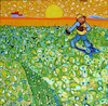 Cartoon: Lets reforest (small) by Munguia tagged sower,at,sunset,vincent,van,gogh,jean,francois,millet,green