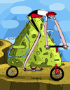 Cartoon: Mountain Bike (small) by Munguia tagged bike,outdoors,mountain,bicycle,sports