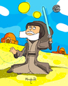 Cartoon: Obi 1 Kenobi (small) by Munguia tagged obi,wan,kenobi,one,starwars,lucas,space