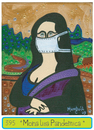 Cartoon: Pandemic Monalisa (small) by Munguia tagged mona,lisa,gioconda,da,vinci,leonardo,munguia,pandemic,flue,resfriado,n1,h1,virus,terrorismo