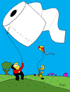 Cartoon: Papelote (small) by Munguia tagged toilet paper role wc inodoro munguia costa rica teatro kit papelote kid juego de ninos diversion vida parque park play