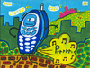 Cartoon: Pedo Telefonico (small) by Munguia tagged gas,pedo,air,aire,telefono,movil,telephone,phone,ringer,ring,tone