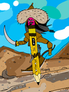 Cartoon: Mongol Pencil (small) by Munguia tagged mongol,pencil,warrior