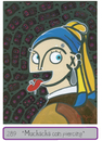 Cartoon: Piercing (small) by Munguia tagged vermeer,lady,pearl,girl,woman,portrait,munguia,pearcing,earring