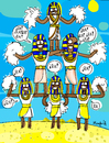 Cartoon: Ra Ra Ra (small) by Munguia tagged cheer,leader,pyramid,egypt,egipto,ra,rah,god