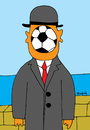 Cartoon: Son of the world (small) by Munguia tagged futball soccer world cup munguia magritte