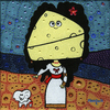 Cartoon: The Ducheese (small) by Munguia tagged duquesa,quesa,queso,cheese,duchess,of,alba,francisco,de,goya,famous,paintings,parodies,iconic,spoof,fine,art,classic,spain,paint,parodias,pinturas,famosas