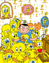 Cartoon: Twitter - a Tweety collector (small) by Munguia tagged twitter,tweeter,tweety,piolin,bird,collector,obsesion,looney,toons
