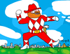 Cartoon: Walker Texas Power Ranger (small) by Munguia tagged power,ranger,walker,texas,chuck,norris,furris,red,parody,calcamunguia