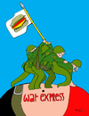 Cartoon: War Express (small) by Munguia tagged war soldier kill killer death world eua usa america