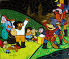 Cartoon: Welcome (small) by Munguia tagged goya,shootings,of,may,fusilamientos,del,de,mayo,famous,paintings,parodies