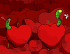 Cartoon: WormHole (small) by Munguia tagged blackhole,wormhole,worm,hole,space,fly,apple,fruits,fruit,munguia,calcamunguia,costa,rica