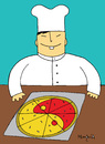 Cartoon: Yin Yang Pizza (small) by Munguia tagged pizzapitch yin yang pizza chef oriental