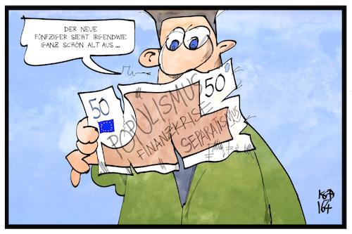 50 Euro Schein Von Kostas Koufogiorgos Politik Cartoon Toonpool