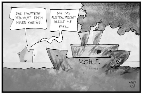 Cartoon: Albtraum Kohle (medium) by Kostas Koufogiorgos tagged karikatur,koufogiorgos,illustration,cartoon,kohle,kohlekommission,schiff,albtraum,albtraumschiff,frachter,energie,energiewende,klima,zdf,fernsehen,karikatur,koufogiorgos,illustration,cartoon,kohle,kohlekommission,schiff,albtraum,albtraumschiff,frachter,energie,energiewende,klima,zdf,fernsehen