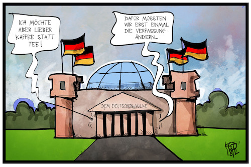 Cartoon: Bund und Länder (medium) by Kostas Koufogiorgos tagged karikatur,koufogiorgos,illustration,cartoon,bund,länder,reichstag,bundestag,bundesrat,verfassung,streit,bürokratie,demokratie,karikatur,koufogiorgos,illustration,cartoon,bund,länder,reichstag,bundestag,bundesrat,verfassung,streit,bürokratie,demokratie