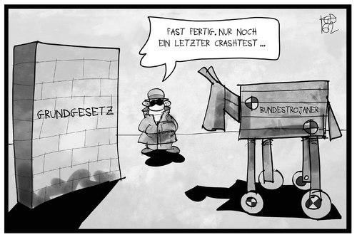 Bundestrojaner von Kostas Koufogiorgos   Politik Cartoon   TOONPOOL