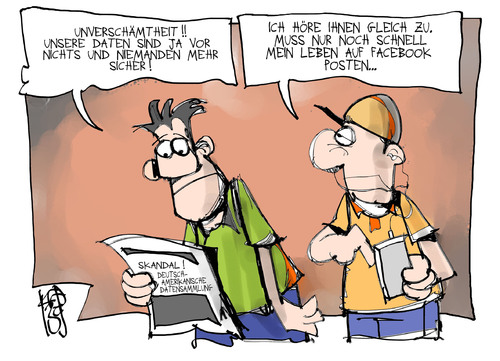 Datenschutz von Kostas Koufogiorgos | Politik Cartoon