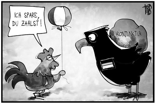 Deutschland Frankreich Cartoon