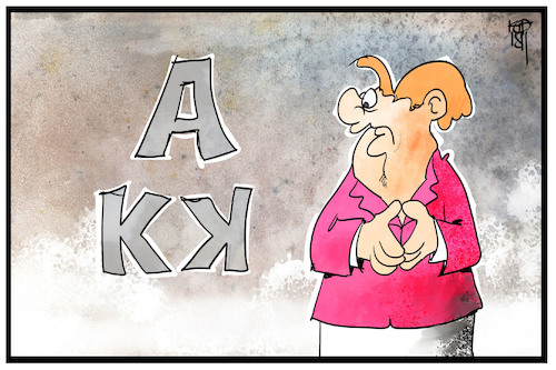 Cartoon: Die AKK-Raute (medium) by Kostas Koufogiorgos tagged karikatur,koufogiorgos,illustration,cartoon,akk,raute,merkel,cdu,vorsitz,gestik,körpersprache,kramp,karrenbauer,karikatur,koufogiorgos,illustration,cartoon,akk,raute,merkel,cdu,vorsitz,gestik,körpersprache,kramp,karrenbauer