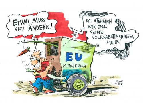 Etwas Muss Sich ändern Von Kostas Koufogiorgos Politik Cartoon