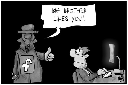 Cartoon: Facebook-Richtlinien (medium) by Kostas Koufogiorgos tagged karikatur,koufogiorgos,illustration,cartoon,facebook,user,nutzer,computer,internet,daten,big,brother,datenschutz,privatsphaere,karikatur,koufogiorgos,illustration,cartoon,facebook,user,nutzer,computer,internet,daten,big,brother,datenschutz,privatsphaere