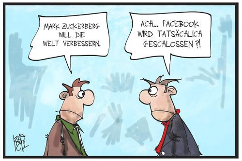 Karikatur Soziale Medien
