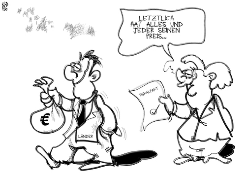 Cartoon: Fiskalpakt (medium) by Kostas Koufogiorgos tagged länder,bund,bestechung,geld,fiskalpakt,karikatur,bundesrat,merkel,koufogiorgos,kostas,bund,länder,fiskalpakt,geld,bestechung,merkel,bundesrat