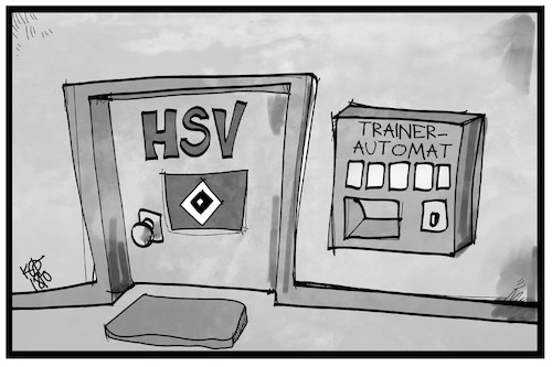 Cartoon: HSV-Trainer (medium) by Kostas Koufogiorgos tagged karikatur,koufogiorgos,illustration,cartoon,hsv,trainer,automat,fussball,coach,titz,wolf,hamburg,verein,sport,karikatur,koufogiorgos,illustration,cartoon,hsv,trainer,automat,fussball,coach,titz,wolf,hamburg,verein,sport