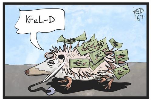 Igel D Von Kostas Koufogiorgos Politik Cartoon Toonpool