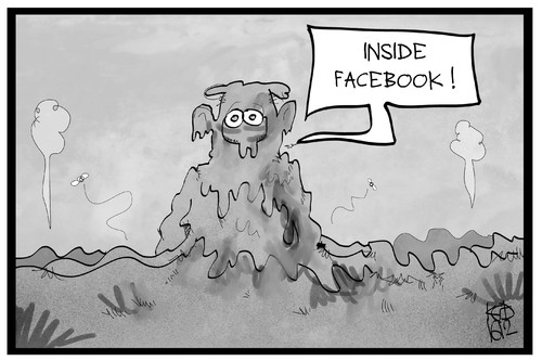 Cartoon: Inside Facebook (medium) by Kostas Koufogiorgos tagged karikatur,koufogiorgos,illustration,cartoon,facebook,löschteam,schlamm,hetze,hasspostings,soziale,netzwerke,investigativ,undercover,karikatur,koufogiorgos,illustration,cartoon,facebook,löschteam,schlamm,hetze,hasspostings,soziale,netzwerke,investigativ,undercover