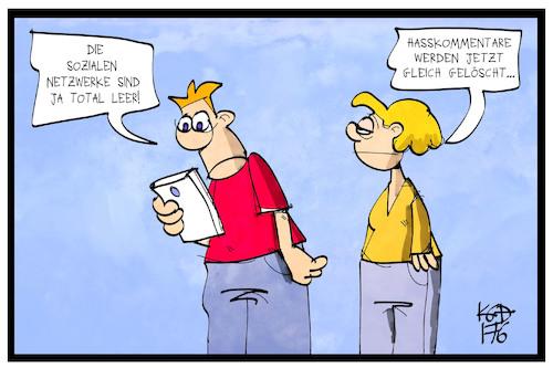 Soziale Netzwerke Karikatur