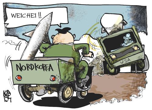 Nordkorea-USA von Kostas Koufogiorgos | Politik Cartoon ...