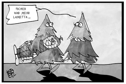 Cartoon: Oh Tannenbaum (medium) by Kostas Koufogiorgos tagged karikatur,koufogiorgos,illustration,cartoon,tannenbaum,weihnachtsbaum,lametta,mensch,weihnachten,schmuck,dekoration,loriot,karikatur,koufogiorgos,illustration,cartoon,tannenbaum,weihnachtsbaum,lametta,mensch,weihnachten,schmuck,dekoration,loriot