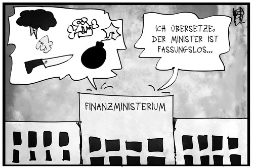Cartoon: Schäuble ist fassungslos (medium) by Kostas Koufogiorgos tagged karikatur,koufogiorgos,illustration,cartoon,schäuble,finanzministerium,ärger,wut,finanzminister,politiker,politik,karikatur,koufogiorgos,illustration,cartoon,schäuble,finanzministerium,ärger,wut,finanzminister,politiker,politik