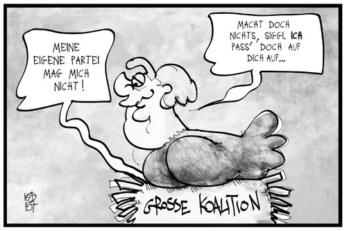 Cartoon: SPD (medium) by Kostas Koufogiorgos tagged karikatur,koufogiorgos,cartoon,illustration,spd,gabriel,mutti,merkel,nest,glucke,obhut,huhn,groko,koalition,regierung,politik,nestwaerme,karikatur,koufogiorgos,cartoon,illustration,spd,gabriel,mutti,merkel,nest,glucke,obhut,huhn,groko,koalition,regierung,politik,nestwaerme