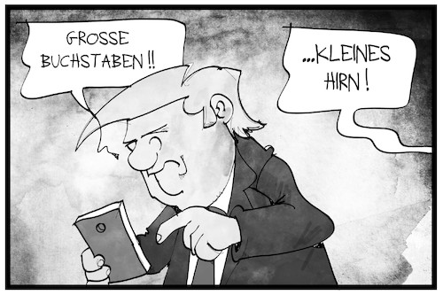Cartoon: Trump droht dem Iran (medium) by Kostas Koufogiorgos tagged karikatur,koufogiorgos,illustration,cartoon,trump,twitter,smartphone,mobile,handy,soziale,netzwerke,social,media,iran,drohung,krieg,hirn,usa,präsident,politik,karikatur,koufogiorgos,illustration,cartoon,trump,twitter,smartphone,mobile,handy,soziale,netzwerke,social,media,iran,drohung,krieg,hirn,usa,präsident,politik