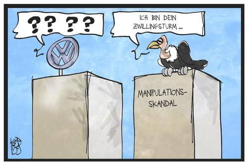 Vw Skandal Von Kostas Koufogiorgos Wirtschaft Cartoon