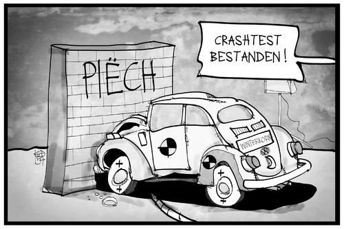 Cartoon: VW (medium) by Kostas Koufogiorgos tagged karikatur,koufogiorgos,illustration,cartoon,vw,winterkorn,piech,mauer,wand,crashtest,käfer,volkswagen,auto,vorstand,aufsichtsrat,manager,machtkampg,automobil,industrie,wirtschaft,karikatur,koufogiorgos,illustration,cartoon,vw,winterkorn,piech,mauer,wand,crashtest,käfer,volkswagen,auto,vorstand,aufsichtsrat,manager,machtkampg,automobil,industrie,wirtschaft
